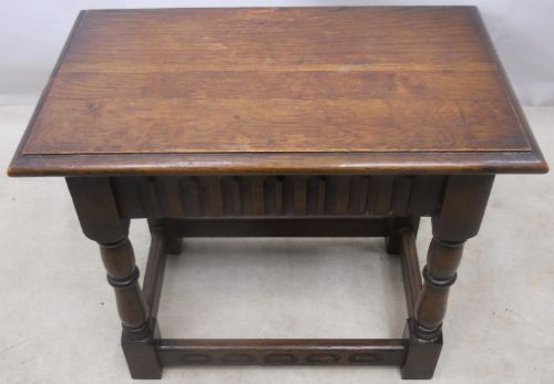 Antique Jacobean Style Carved Oak Joint Stool - SOLD